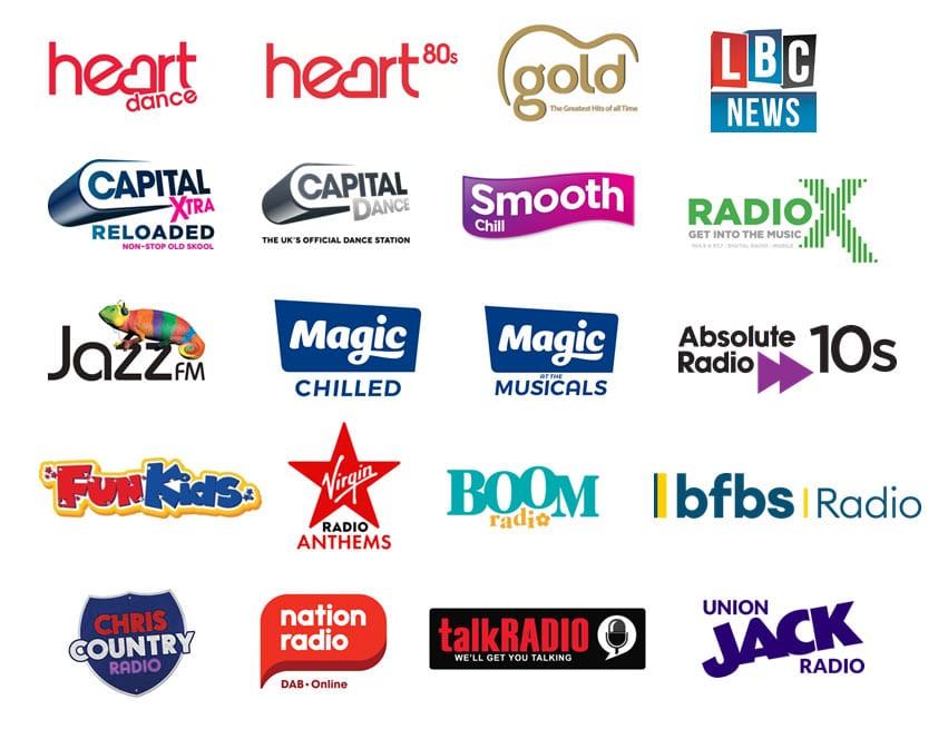 DAB+ radio station logos
